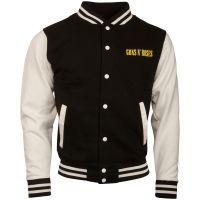 Guns N Roses - College Jacke Circle Logo - schwarz