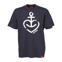 Astra - T-Shirt Herzanker Navy Weiß - blau