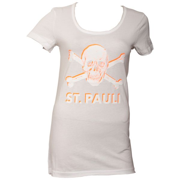FC St. Pauli Frauen T-Shirt Hot Orange