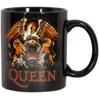 Queen - Kaffeebecher Classic Crest - schwarz