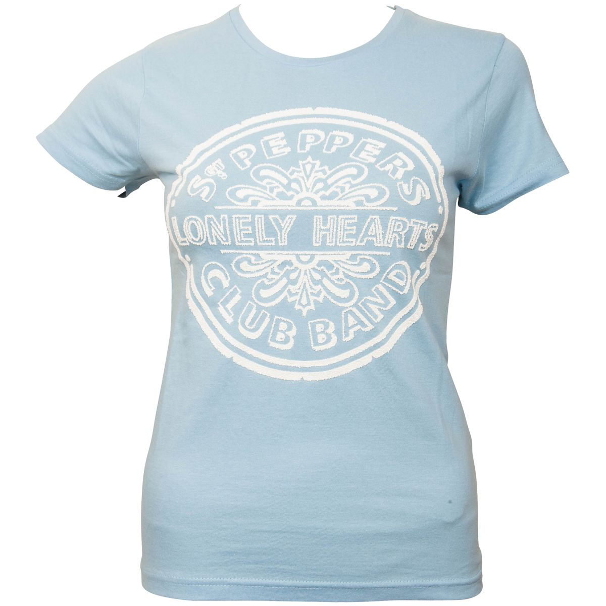 The Beatles - Frauen T-Shirt Sgt Pepper Drum - blau