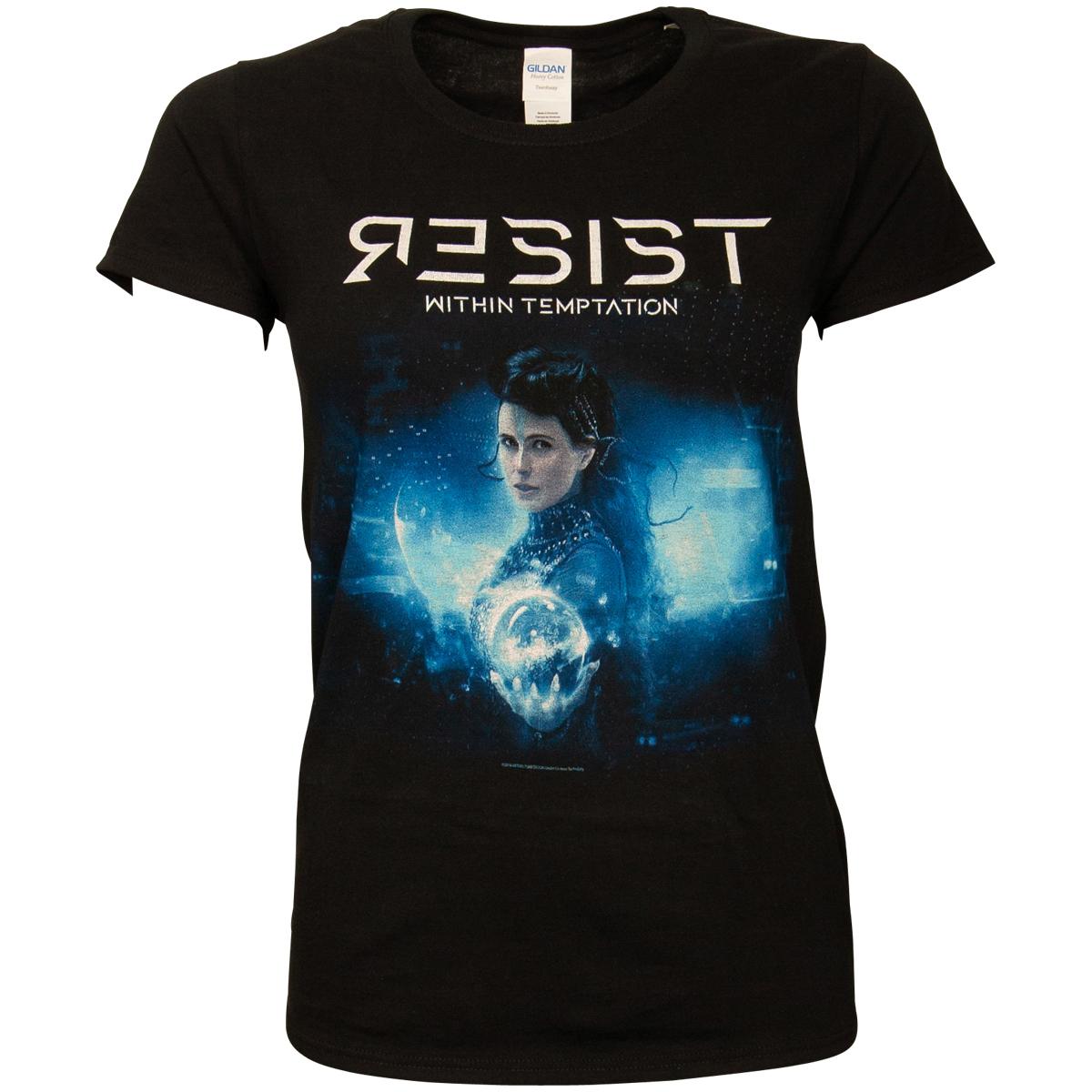 Within Temptation - Damen T-Shirt Resist Orb - schwarz