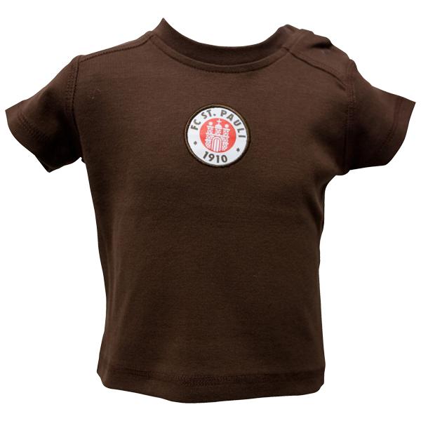FC St. Pauli Baby T-Shirt Logo - braun