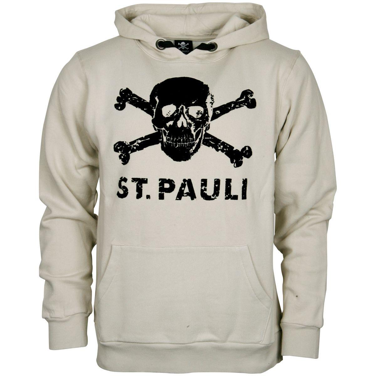 FC St. Pauli - Kapuzenpullover Old School Totenkopf - offwhite