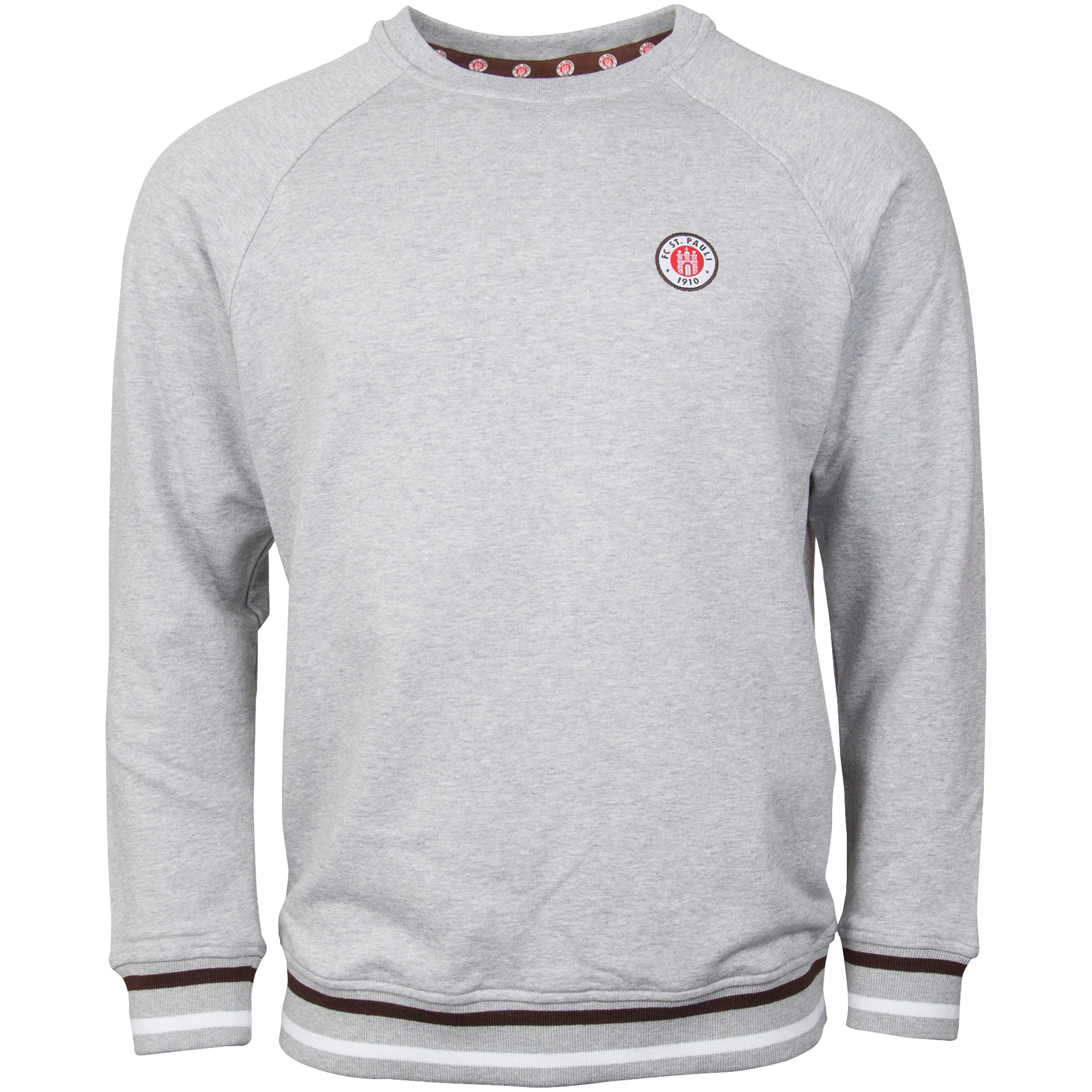 FC St. Pauli - Sweatshirt Club mit Logo - grau