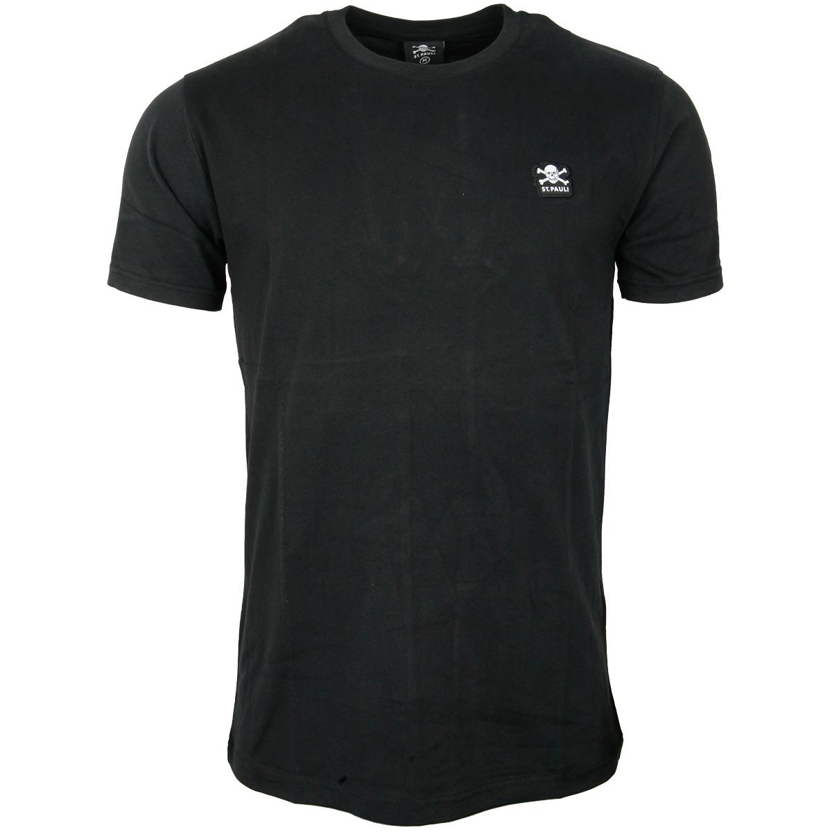 FC St. Pauli - T-Shirt Business Basic Totenkopf - schwarz