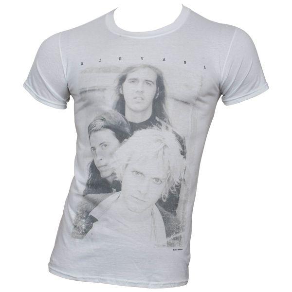 Nirvana - T-Shirt Group Photo - weiß