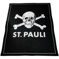 FC St. Pauli - Fleecedecke Totenkopf - schwarz