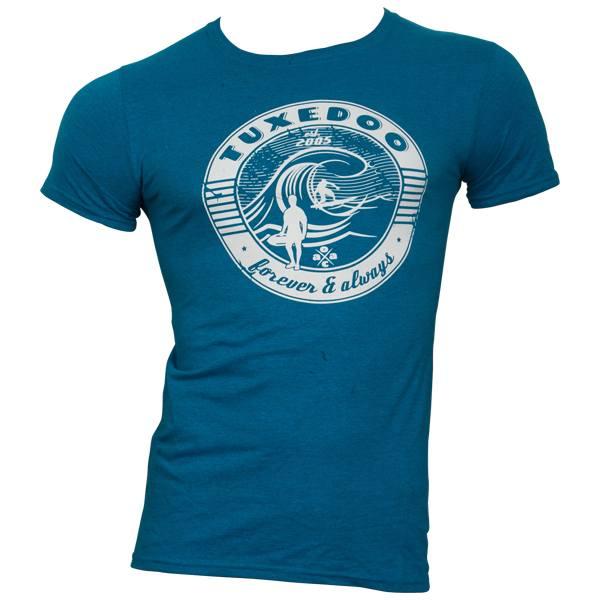 tuXedoo - T-Shirt Forever & Always - blau