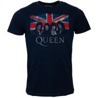 Queen - T-Shirt Union Jack - dunkelblau