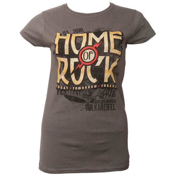 Rock am Ring 2016 - Frauen T-Shirt Vintage Logo mit Lineup - grau