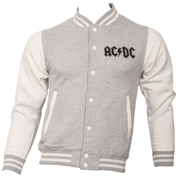 AC/DC - College Jacke For Those About To Rock - grau-weiß