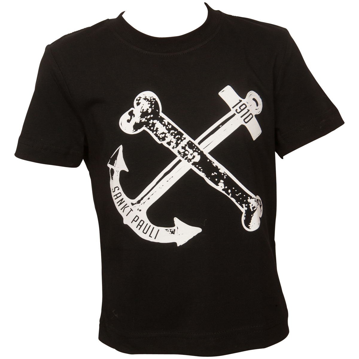 FC St. Pauli - Kinder T-Shirt Anker - schwarz