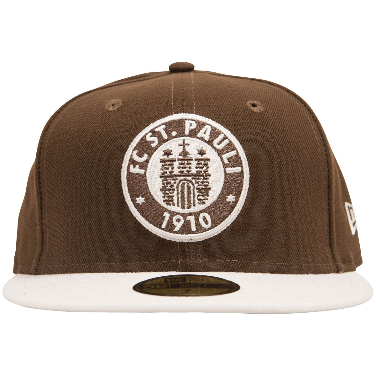 c4ae9829c5e3 FC St. Pauli 59fifty Cap with Logo in brown and white   ROCKnSHOP