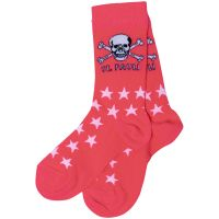 FC St. Pauli - Socken Sterne mit Totenkopf - pink