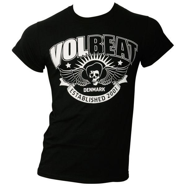 volbeat t shirt skullwing ribbon schwarz rocknshop. Black Bedroom Furniture Sets. Home Design Ideas