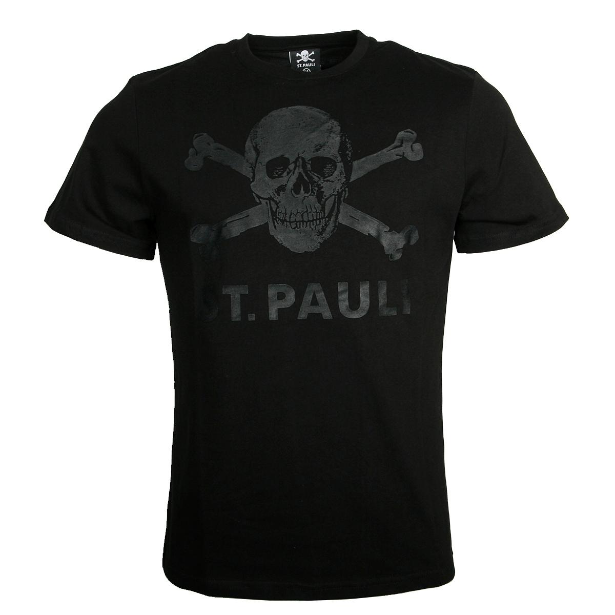 FC St. Pauli - T-Shirt Black Matte Totenkopf - schwarz