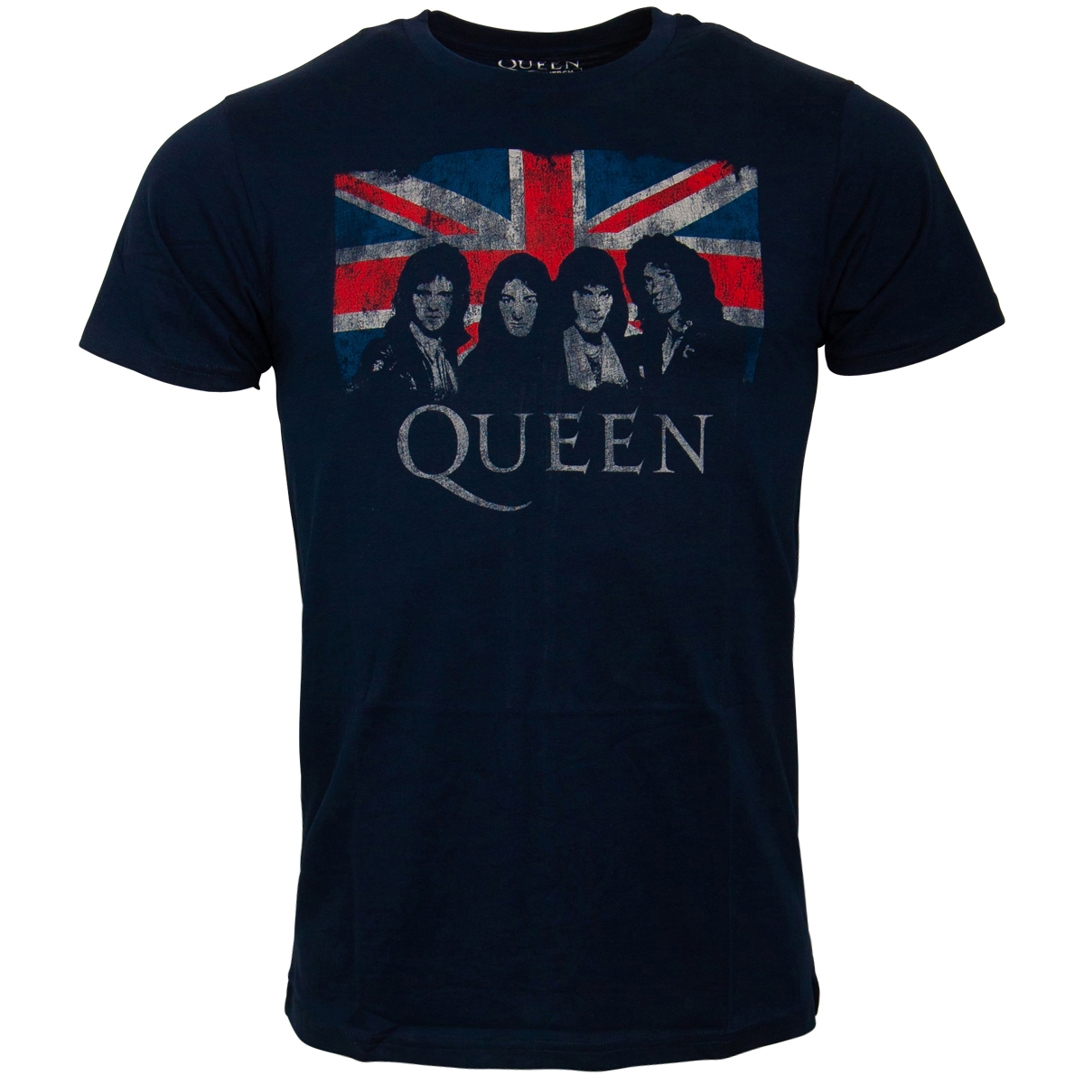 Queen - T-Shirt Union Jack - dunkelblau