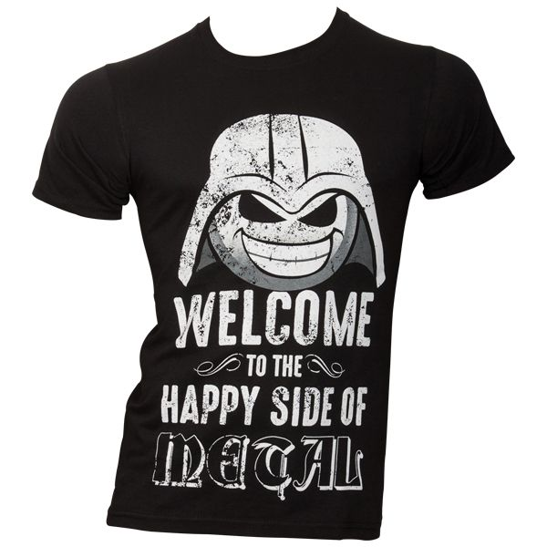T-Shirt - Welcome To The Happy Side of Heavy Metal - schwarz