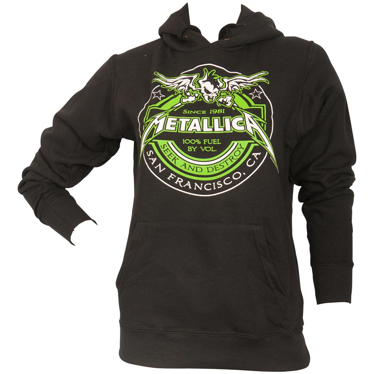 Metallica - Damen Kapuzenpullover Fuel - schwarz