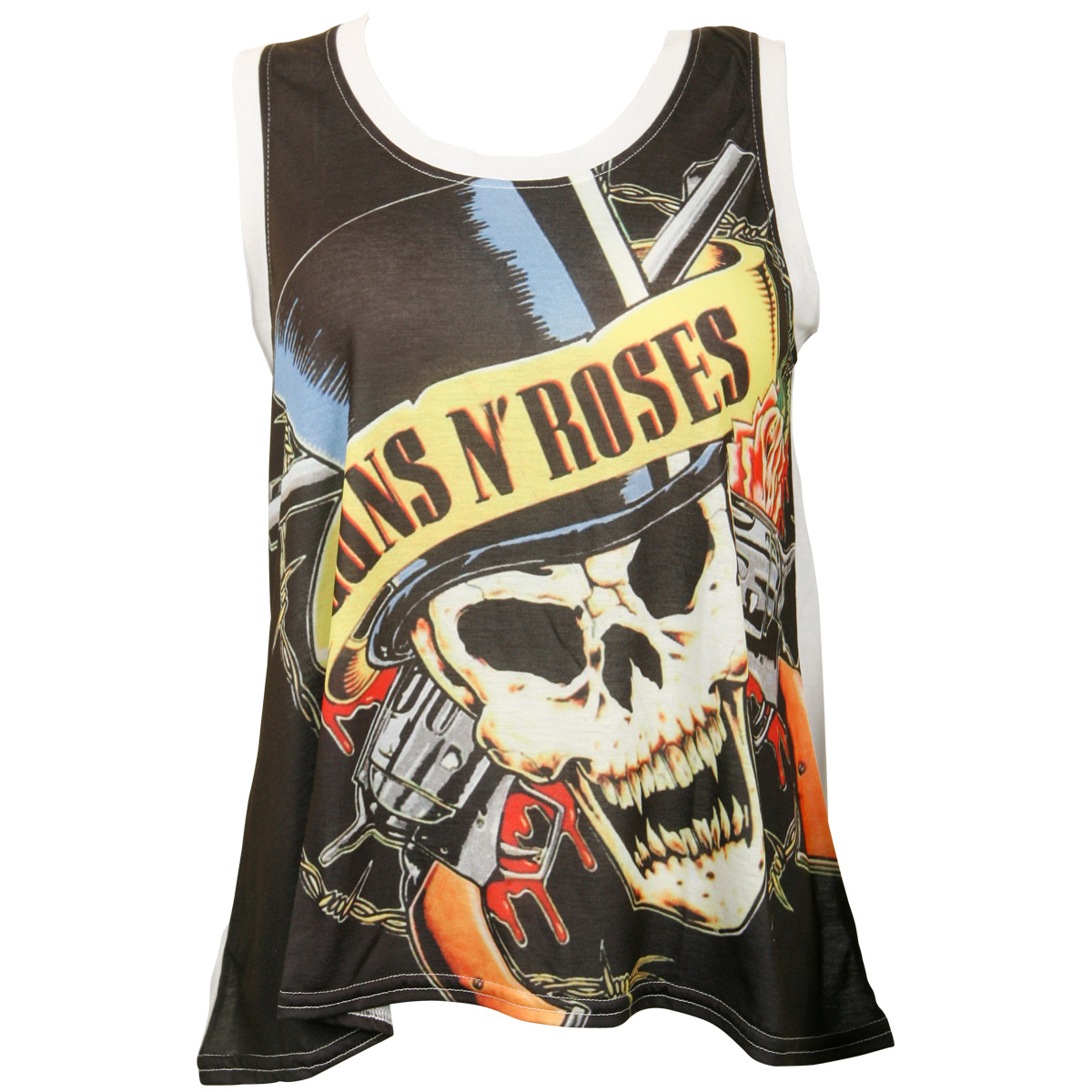 Guns N Roses - Damen Tank Top Skull & Guns - schwarz