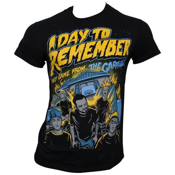 A Day To Remember - T-Shirt They Came From The Garage - schwarz
