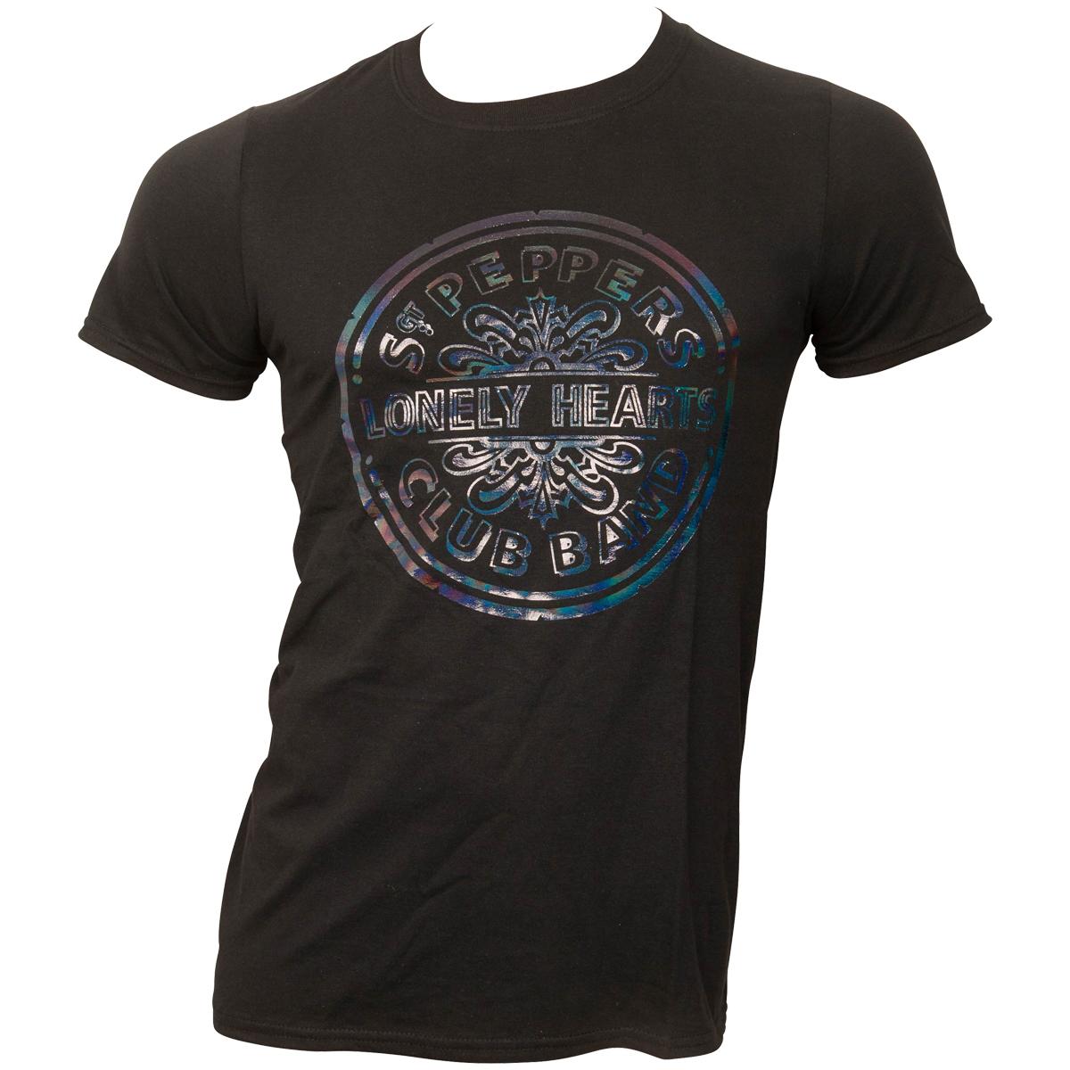 The Beatles - T-Shirt Sgt Pepper Drum - schwarz