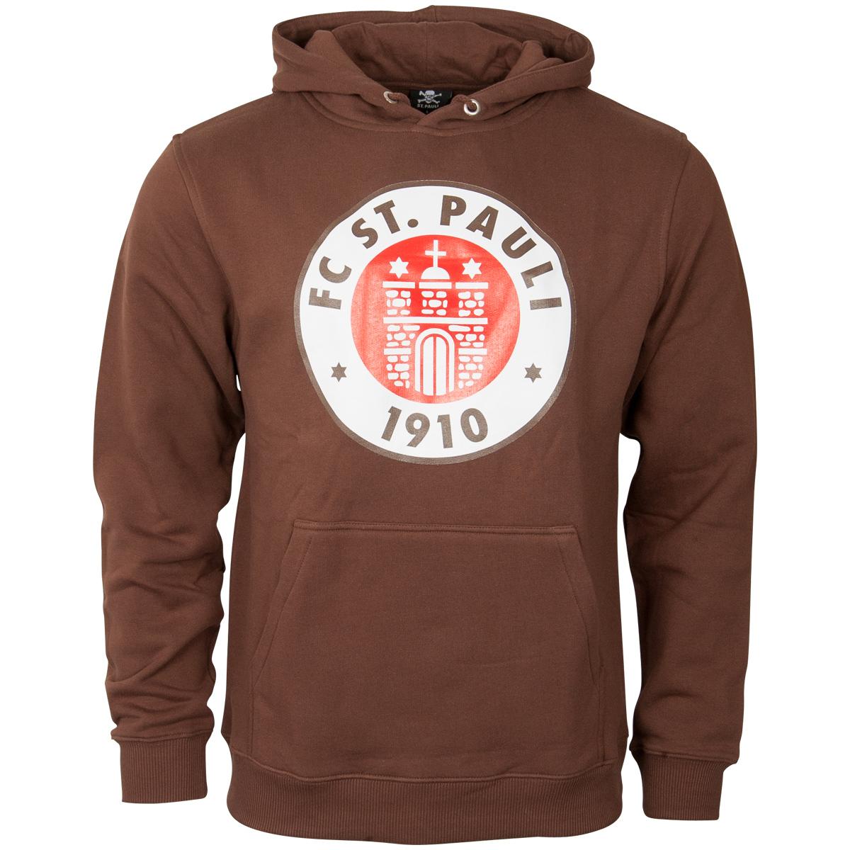 FC St. Pauli - Kapuzenpullover Logo - braun