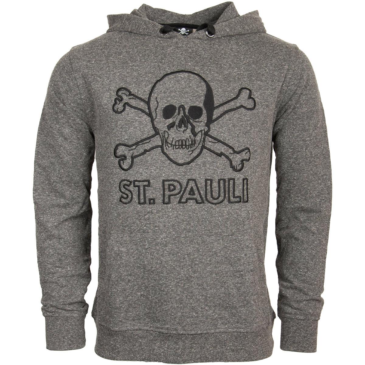FC St. Pauli - Kapuzenpullover Terry Outline - grau