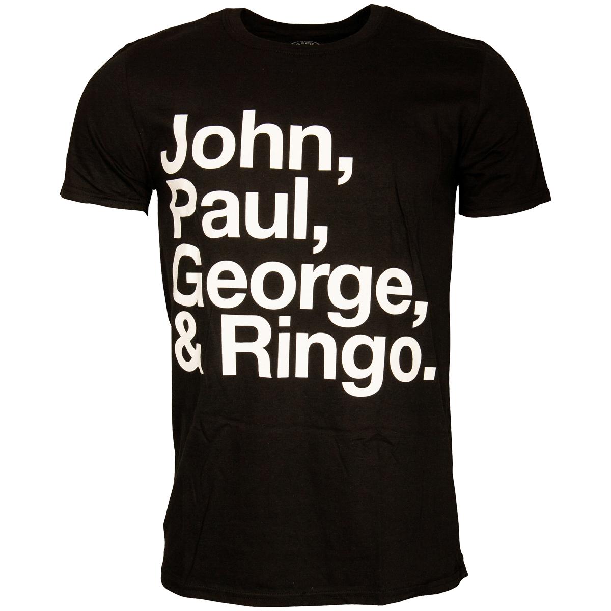 The Beatles - T-Shirt John Paul George & Ringo - schwarz