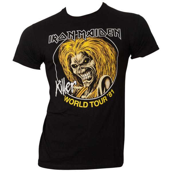 Iron Maiden - T-Shirt Killer World Tour 81 - schwarz