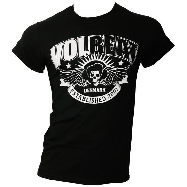 Volbeat - T-Shirt Skullwing Ribbon - schwarz