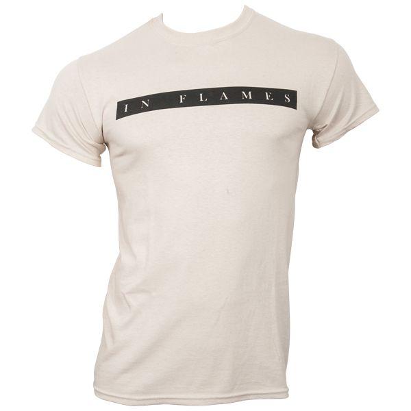 In Flames - T-Shirt Plain Logo - sand