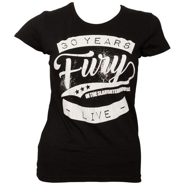 Fury In The Slaughterhouse - Frauen T-Shirt 30 Years - schwarz
