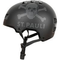 FC St. Pauli - Fahrradhelm Totenkopf - schwarz