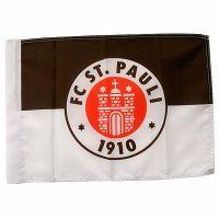 FC St. Pauli - Fahne Logo 100x150 cm - braun/weiss