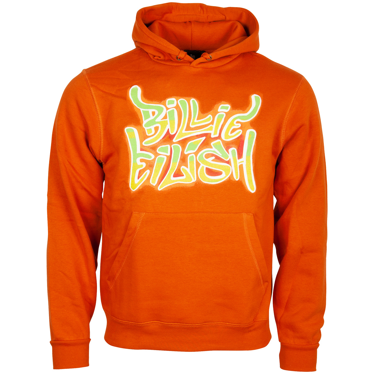 Billie Eilish - Kapuzenpullover Airbrush Flames - orange