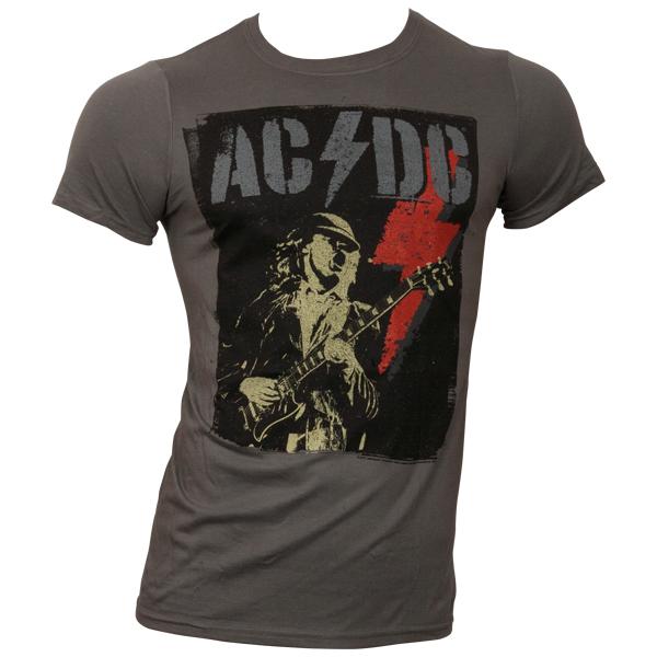 AC/DC - T-Shirt Angus Flash - grau