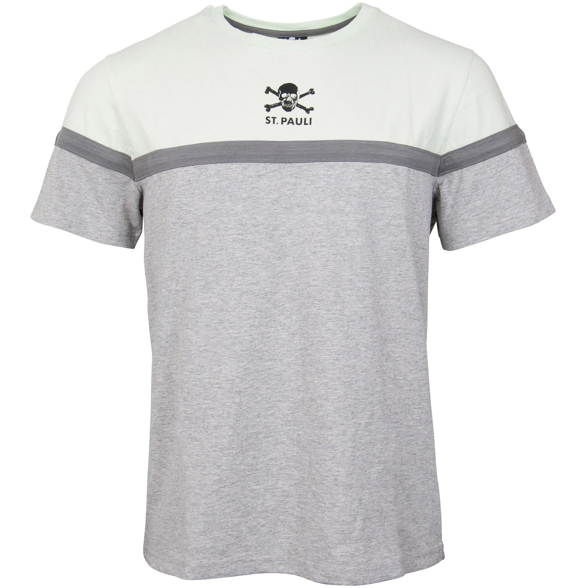 FC St. Pauli - T-Shirt 90`s Block - grau