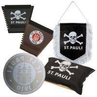 FC St. Pauli - 5-teiliges Auto-Set mit Totenkopf & Logo - schwarz-braun