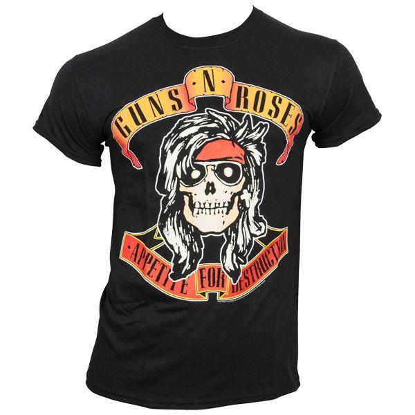 Guns N Roses - T-Shirt Bandana Skull - schwarz