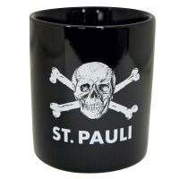 FC St. Pauli - Kaffeebecher Totenkopf - schwarz
