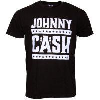 Johnny Cash - T-Shirt Simple Logo - schwarz