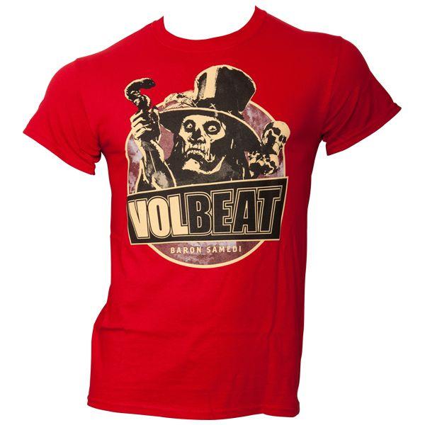 Volbeat - T-Shirt Baron Samedi - rot