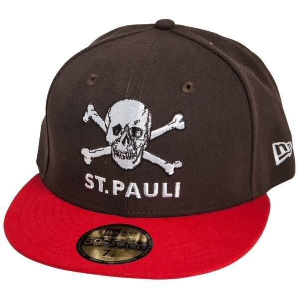 FC St. Pauli - Cap Totenkopf Braun-Rot 59fifty - braun