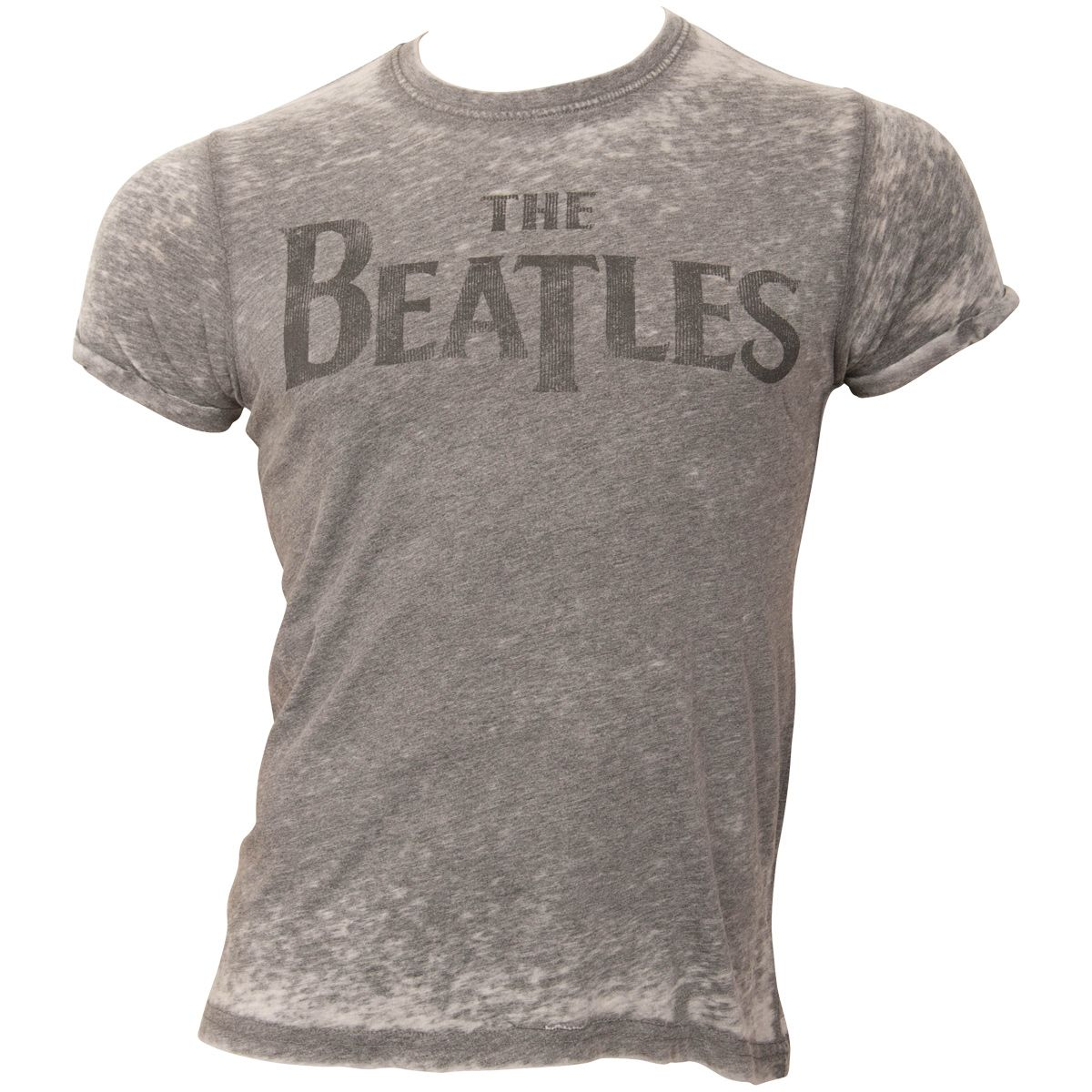 The Beatles - T-Shirt Drop T Logo - grau