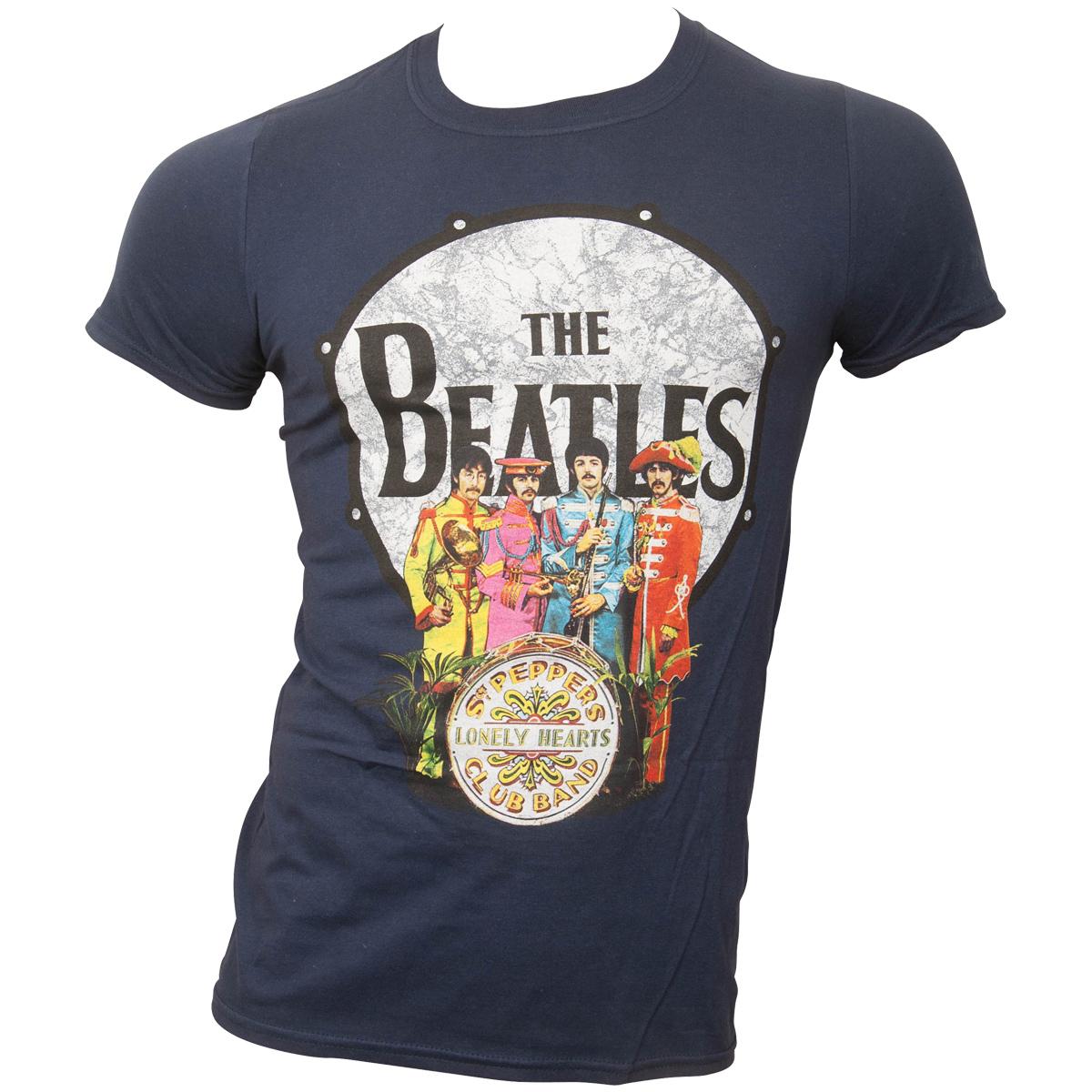 The Beatles - T-Shirt Sgt Pepper & Drum - blau