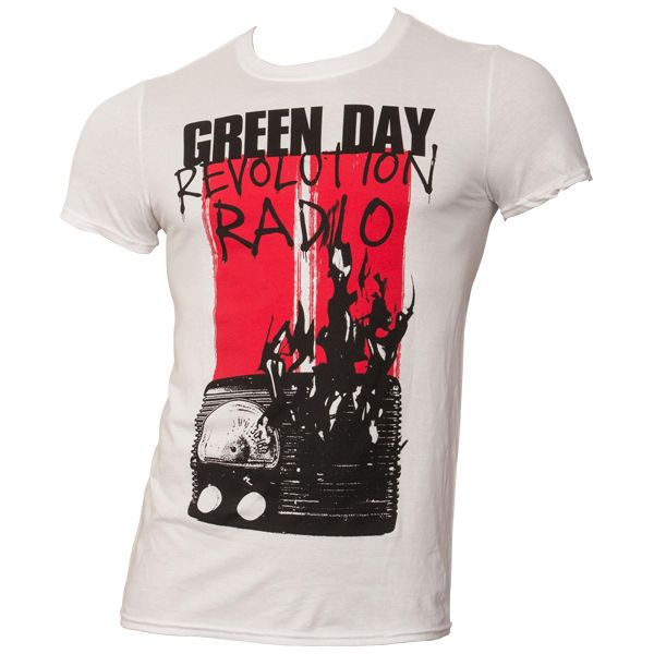 Green Day - T-Shirt Radio Combustion - weiß