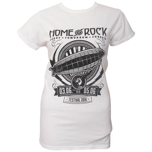 Rock am Ring 2016 - Frauen T-Shirt Ribbon Flash mit Lineup - weiß