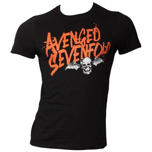 Avenged Sevenfold - T-Shirt Orange Splatter - schwarz